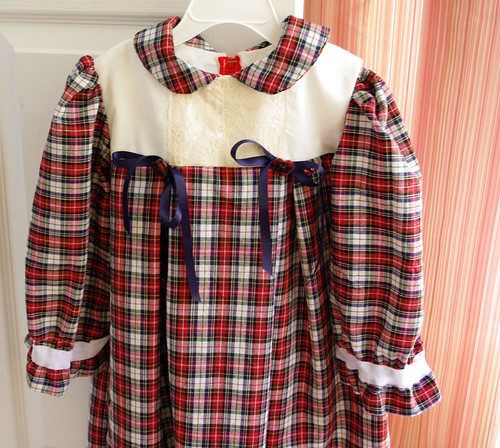 plaid holiday dress