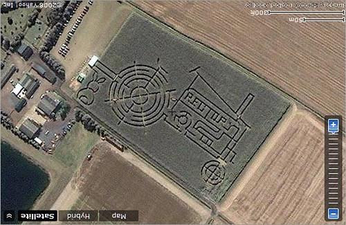 Milton Maize Maze, England Maize Field Maze