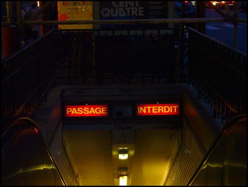 passage interdit