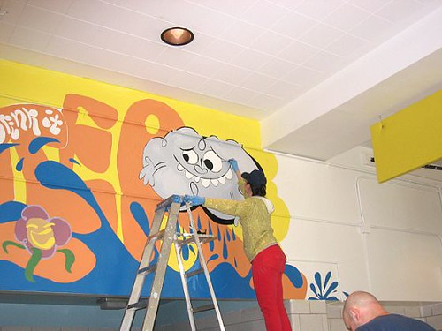 Cafeteria Mural 2- Me with My Happy Raincloud