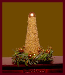 Beaded Dollhouse Miniature Christmas Tree, Tabletop Decor, 1/12 Scale (Golden Unicorn Miniatures) Tags: flowers tree miniatures miniature decoration christmasdecor dollhouse dollshouse onetwelfthscale cdhm goldenunicornminis