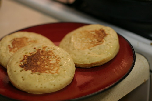 First batch of crumpets