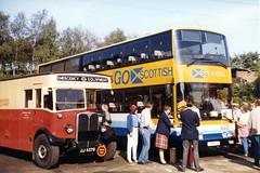 (cybertect) Tags: bus canonav1 kodakgold100 aldenham openday metroliner canonfd50mmf18 mcwmetrobus epsonv700 aecregent scottishcitylink alexandernorthern stl162 jj4379 ndm1 tsx1y