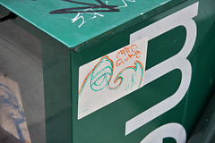 UWP's quickie was crappy (damonabnormal) Tags: street city urban streetart philadelphia canon graffiti october sticker 33 label oct stickers urbanart labels philly slap monday 2008 phl 08 slaps uwp citystickers streetstickers philadelphiastreetart 40d philadelphiagraffiti philadelphiaartist