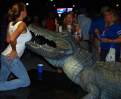 Gators Like Boobs (shiftdnb) Tags: football nikon florida stadium gators lsu swamp floridafield floridagators benhillgriffinstadium gatorcountry nikond40x d40x