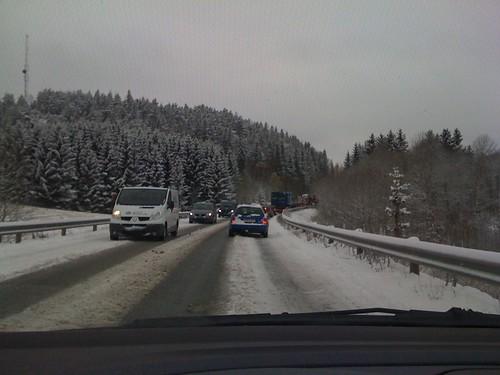 Trafikkaos på Østlandet