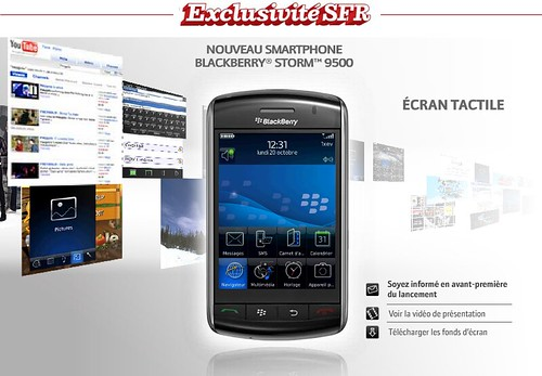 Blackberry Storm en exclusivité chez SFR