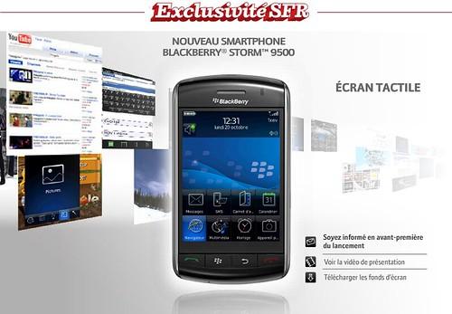 Blackberry Storm en exclusivité chez SFR