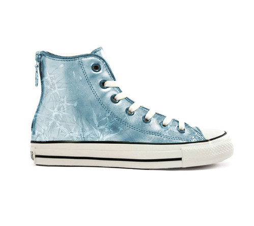 Converse. Dandelions. White on Metallic Baby Blue.