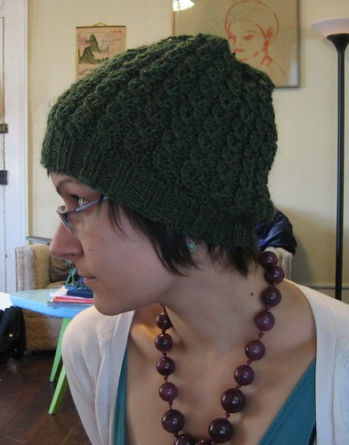 081101. my very own slouchy hat.