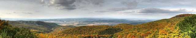 HDR Panorama of the Bükk Mountains, Hungary