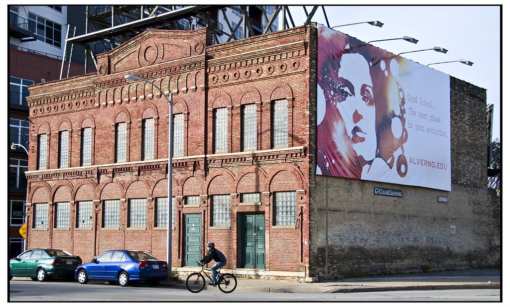 Fifth Ward - Milwaukee, with biker