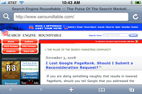 Elections Theme at Search Engine Roundtable