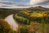 Scott's View, Bemersyde (David Kendal) Tags: autumn fall river morninglight sirwalterscott autumnleaves autumncolours melrose meander curve viewpoint goldenhour oaktrees bemersyde eildon rivertweed galashiels scottishborders scottsview eildonhills xpo