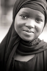 The Beauty Within (Khaled A.K) Tags: poverty portrait blackandwhite 50mm f14 muslim hijab portraiture sa jeddah saudiarabia khaled blackgirl ksa saudia nikond300 kashkari