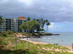 SCARY HOTEL-MAUI (SnapShotStar) Tags: ocean trees sunset sea summer tree island scenery maui palmtrees daytime kihei sunseaandsand 10millionphotos