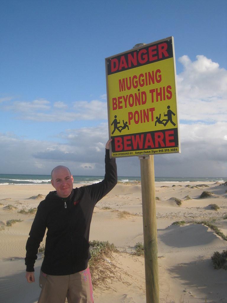 Mugging Beyond this Point - Jeffrey's Bay