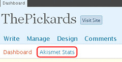 Akismet Stats, and where to find 'em (flickr)