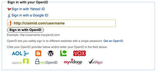 Diigo OpenID sign in