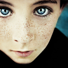 (L caitlin) Tags: boy portrait square photography blueeyes freckles artlibre