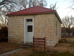 First jail in Cottonwood Falls, Kansas: 1870 - 1873