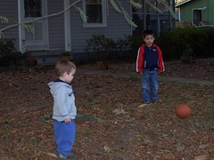 playing outside on thanksgiving