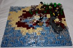 """WWII Pacific Vignette, """"Beach Assault"""" Overall (The Ranger of Awesomeness) Tags: lego pacific wwii rifle brickarms"""