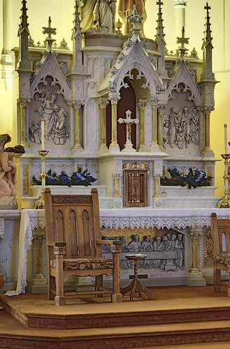Saint Bernard Roman Catholic Church, in Albers, Illinois, USA - altar