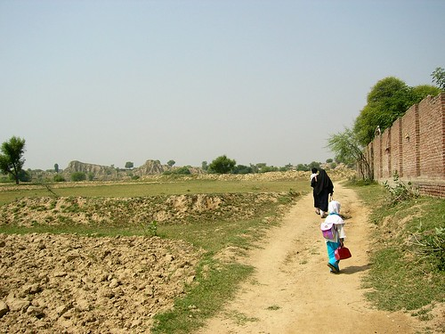 Walking up to the madrasah