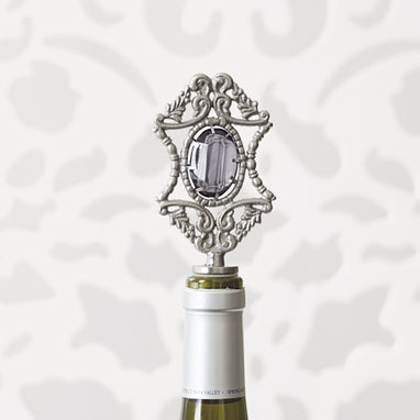 brocade home_charcoal jewel wine stopper