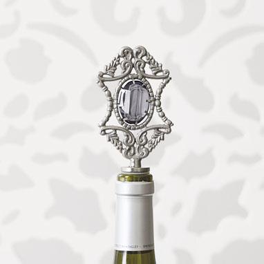 brocade home_charcoal jewel wine stopper