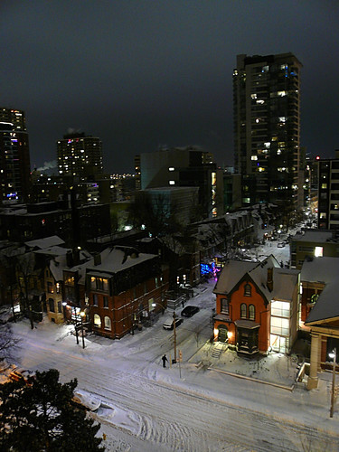 Toronto - Snowy Street @ Night by Nagyman