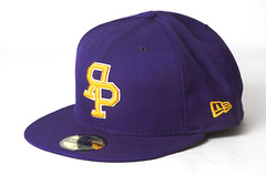 Rock Paper Scissors New Era - Varsity Logo Cap - Purple/Gold