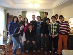 Comida de Navidad con el Prof. Itoh (LuisJouJR) Tags: keio japn