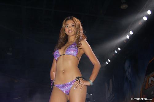Bikini girls modelling for custom cars