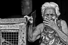 Buhakhak (jeridaking) Tags: people blackandwhite woman festival lady mouth eyes hands closed expression priceless philippines monotone cover laugh rosary oldwoman laughter folks ralph visayas rosarybeads whitehair leyte bisaya bisdak ormocanon jeridaking abuyog matres fortheloveofphotography buyogan leytephotographer ormocphotographer