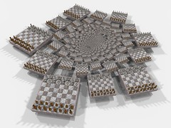 Infinite chess (fdecomite) Tags: game spiral infinity chess math doyle chessboard povray aime infini
