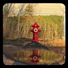 Fire Plug (Steven Hight) Tags: red dawn firehydrant saltlakecity fireplug ttv kodakduaflex3 ©stevenhight