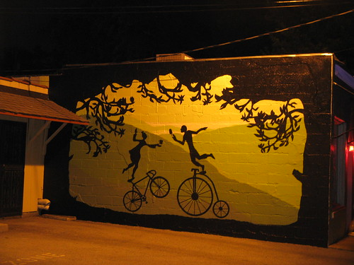 mural at night