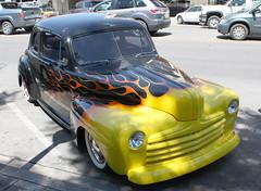 '46 or '47 or '48 Ford (twm1340) Tags: county street arizona ford 1948 flames az flame rod custom coupe prescott 1947 1946 yavapai flamed