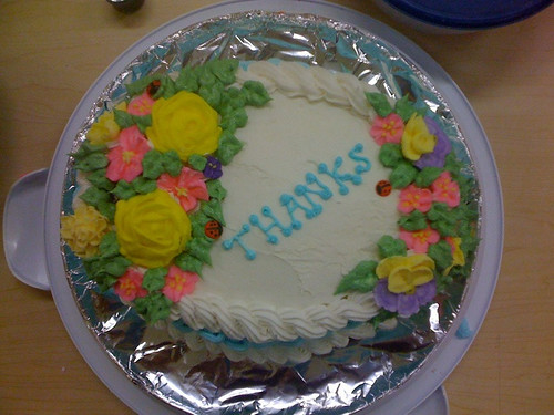 Thanks you cake