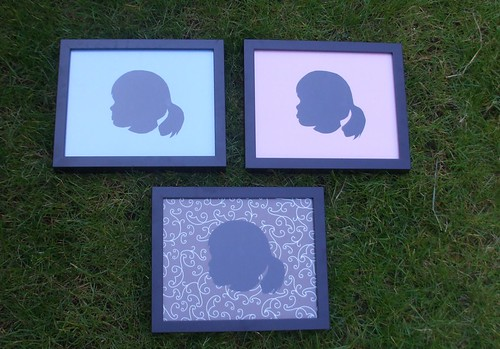 the silhouettes I cut of Pearl for Mother's Day!