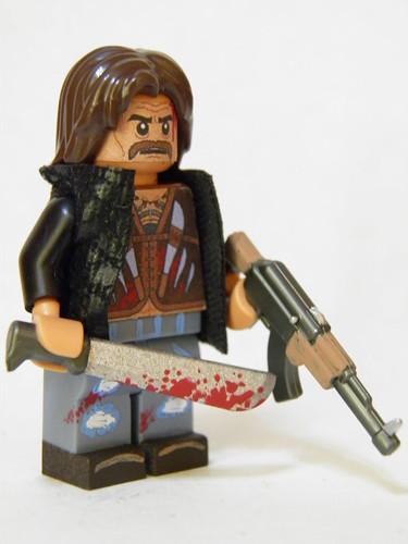 Custom minifig Danny Trejo in Call of the Dead
