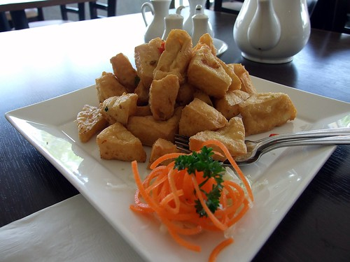 Deep Fried Tofu with Pepper Salt from Green's Vegetarian in Toronto