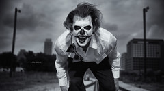 ...the strom (Ainsley Joseph) Tags: bw storm insane scary nikon dof clown bowtie f28 2470mm d700