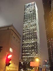 Cheung Kong Center (Terry Hassan) Tags: light red tower night skyscraper hongkong traffic   cheungkongcenter