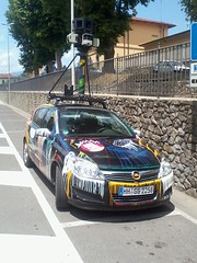 Google Street View Car in Poppi