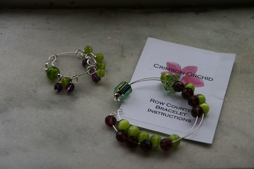 Stitch Markers and Row Counter Bracelet