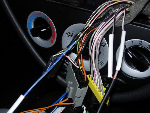 2295380244_8e29a48a9f aftermarket radio wiring with stock svt sub and amp 2000 ford focus zx3 stereo wiring diagram at panicattacktreatment.co