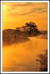 A Winters Morning Sunrise. (numanoid69) Tags: winter orange mist cold fog sunrise river landscape dawn countryside frost gloucestershire daybreak icey riverfrome avision nikond300